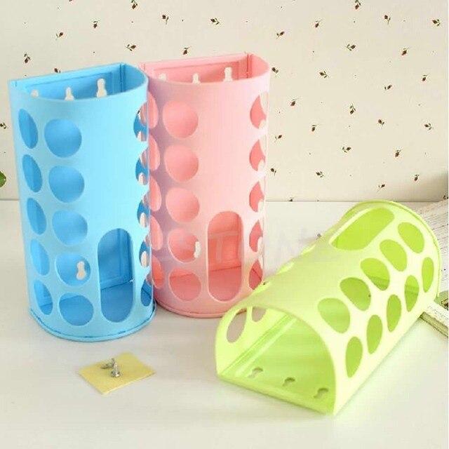 New Plastic Bag Dispenser Kitchen Bags Storage Holder Keeper 4 Colour Choice