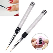 1PC New Fashion Women 7/14mm Crystal Acrylic Nail Brush UV G