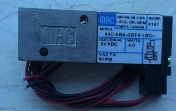 New and original America MAC solenoid valve 44C-ABA-GDFA-1BC [sa] new japan smc solenoid valve syj5240 5g original authentic spot