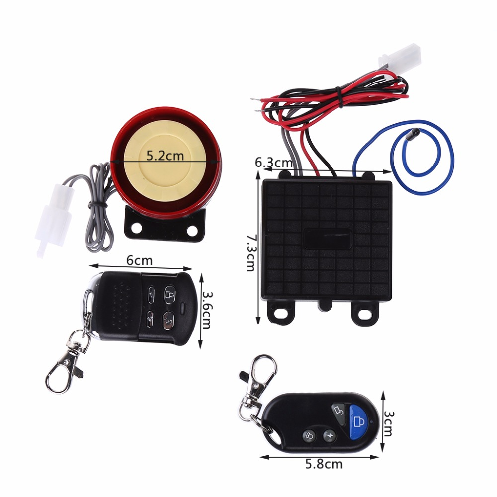 Electrical Ignition Scooter Car Security Alarm System Remote Control 12V Anti-theft Motorcycle Bike Motorcycle Parts