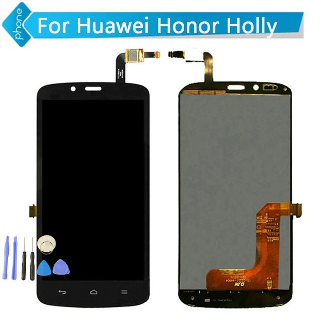 Para huawei honor holly screen display lcd de toque digitador assembléia negro cor + ferramentas