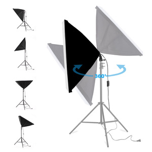 Image 3 - 50*70CM Photography Studio Wired Softbox Lamp Holder with E27 Socket for Studio Continuous Lighting Fotografie Accessoires