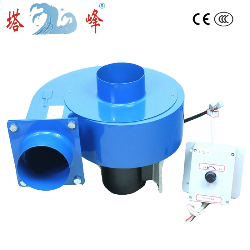 550w DC 48v high pressure 100mm pipe centrifugal fan blower industrial gas smoke dust exhauster with speed control 550w laser exhaust dust and smoke blower