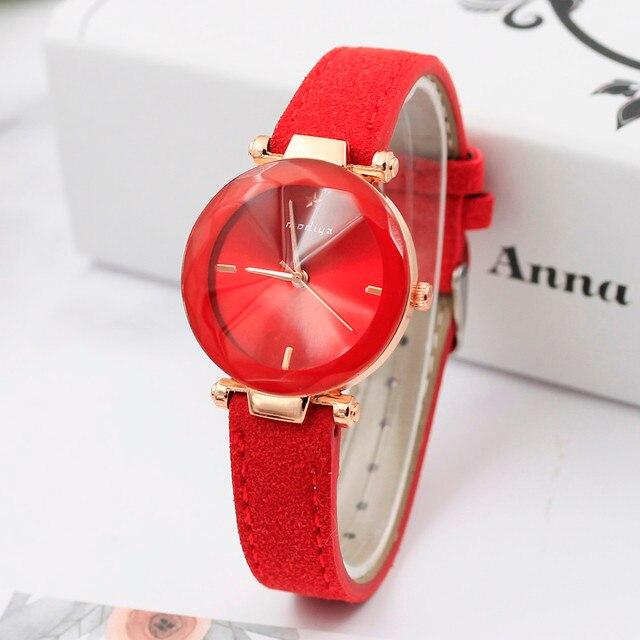 XINIU Women Dress Watches Colorful Crystal Women Bracelet Watch Wristwatch ladie