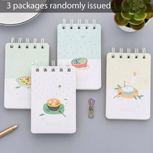 3pcs/Set Creative Coil Spiral Book Portable Notebook Memo Records Journal Diary Book School Supplies Students Stationery