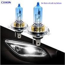 Ciihon 4 peças para vw bora 1j2, 1998 2005, salão, h4 501, 55w, 100w, xenon super branco lâmpadas de farol lateral hid alto/baixo/led