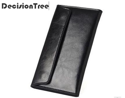 2017 Fashion New Brand Genuine Leather Men Wallet Long Thin Purse Cowhide Multiple Cards Holder Clutch Bag Standard
