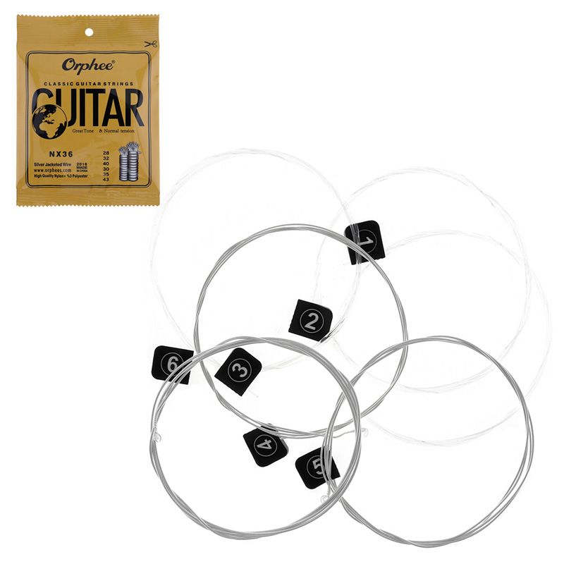 xfdz orphee 6pcs set guitar strings conventional classical guitar string series e b g d a e use. Black Bedroom Furniture Sets. Home Design Ideas