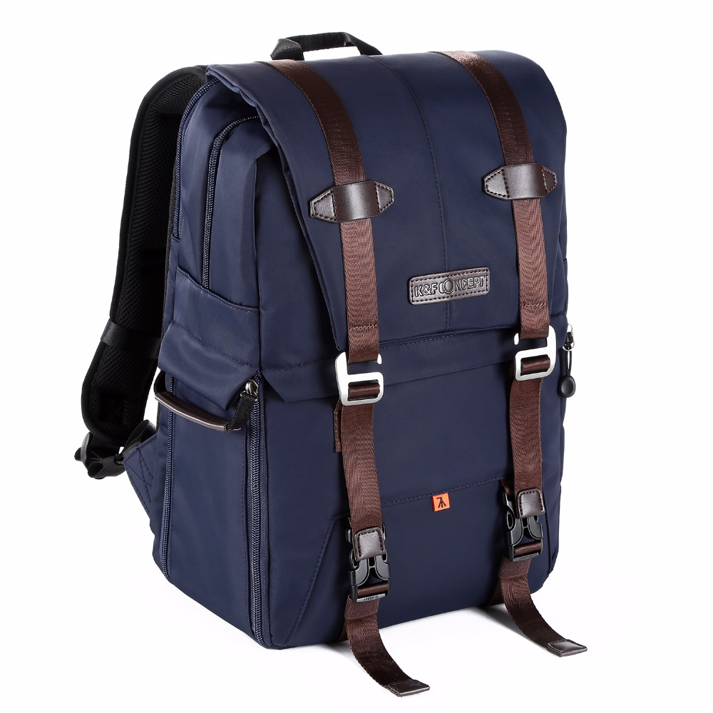 K&F CONCEPT Camera Backpack Waterproof Large Capacity For 14 Laptop Travel Bag Case Side Compartments Hold Tripod For Camera
