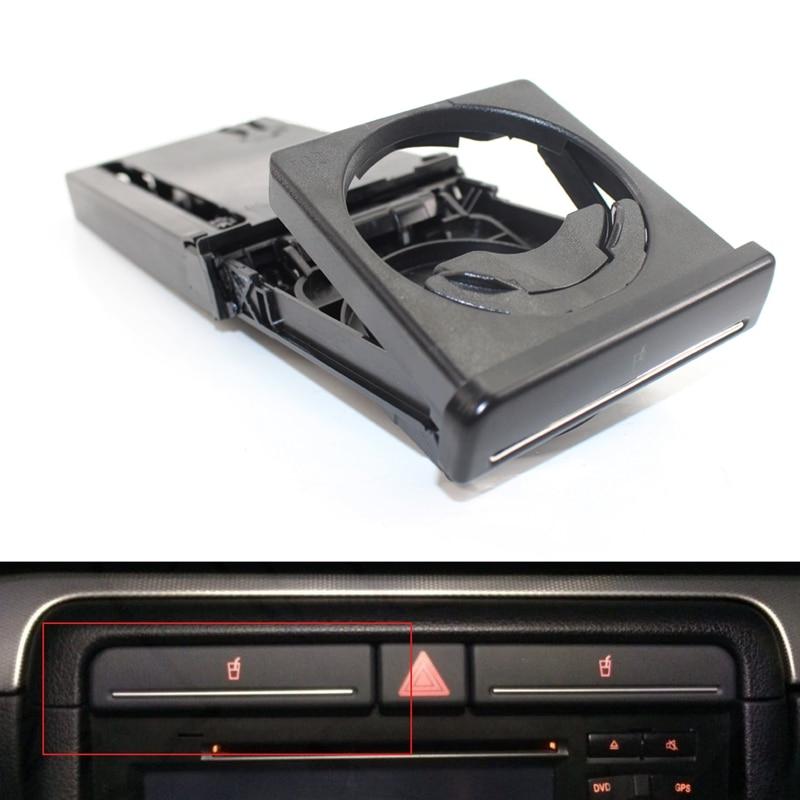Front Dash Car Cup Holder Sliding Black for Audi A4 B7 B6 2002-2008