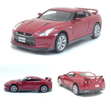 High simulation supercar Kinsmart 1:36 scale alloy pull back Nissan GTR R35 cars 2 open door model toys free shipping(China)