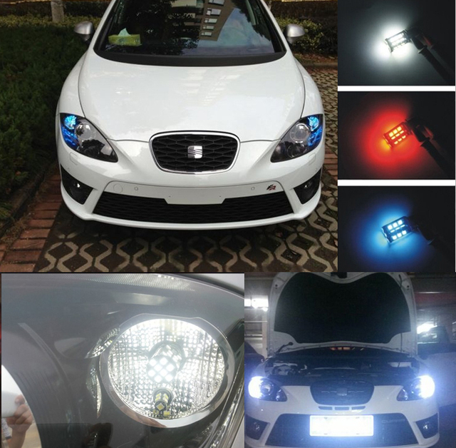 2x S25 1156 P21W BA15S LED Bulbs Daytime Running Lights DRL For Seat ...