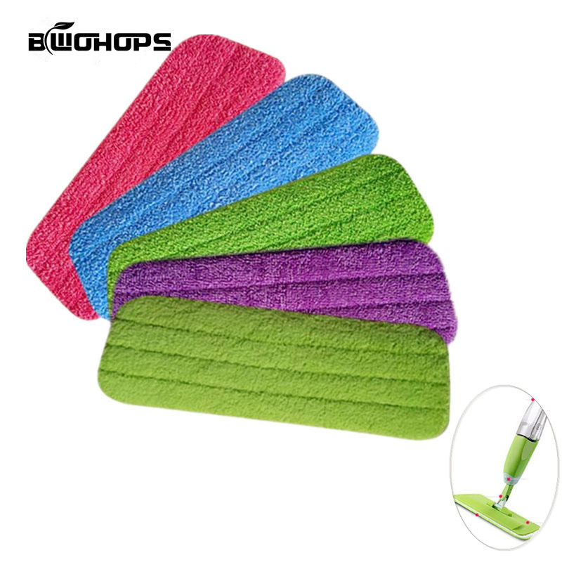 3PCS/set Fiber Spray Mop Pads Head Floor cleaning cloth Paste The Mop To Replace Cloth Household Cleaning Mop Accessories