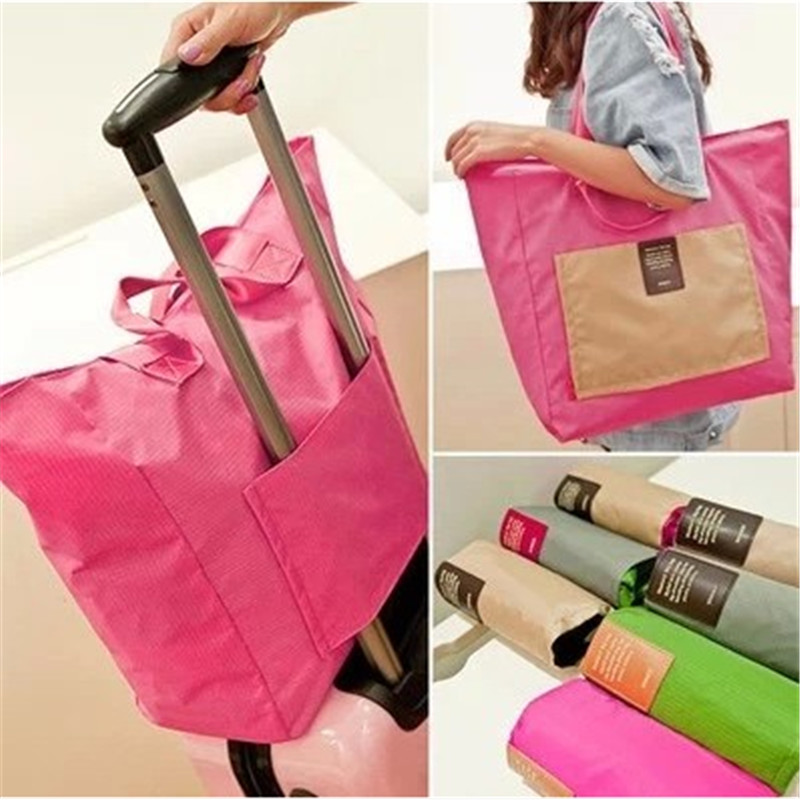 1Pcs 2015 New Fashion Travel Folding bag Portable Duffel bag no pull rod box receive pac ...