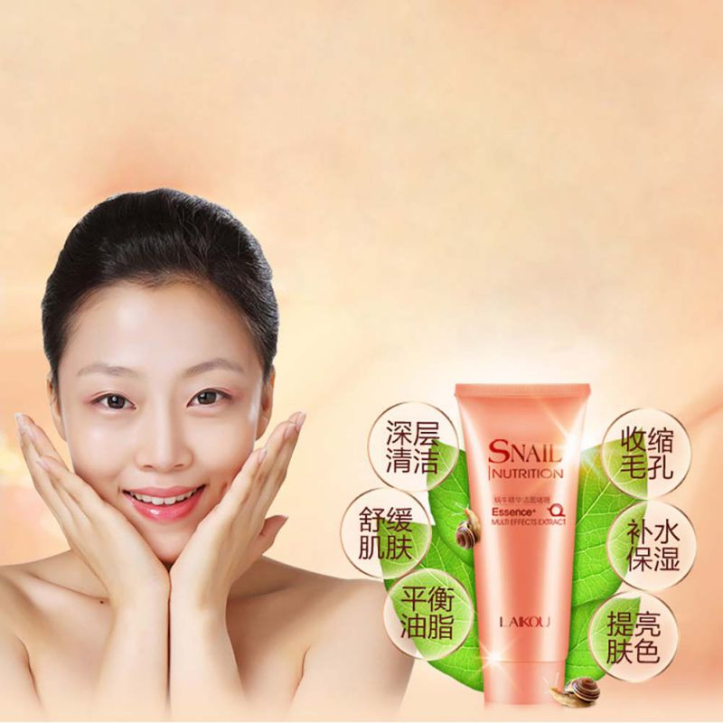 New Arrival  Snail Essence Cleansing Gel Deep Clean Shrink Pores Hydrating Whitening 100g Gel ZT47 Hot!!