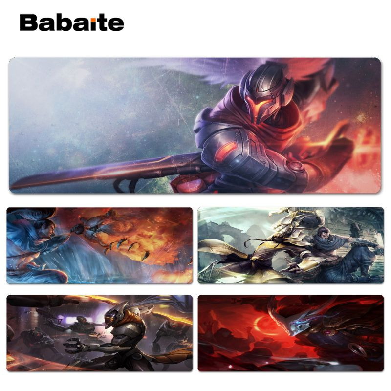 Babaite Yasuo Customized laptop Gaming Lockedge mouse pad Size for 30x60CM Computer Mouse Mat