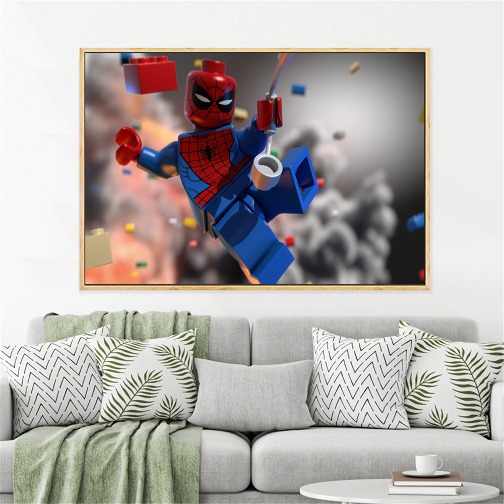 US $2.39 40% OFF|Modern Superhero Canvas Painting Cartoon Superman Batman  Art Prints Poster Marvel Wall Decor Pictures For Child Room Kids Gift-in ...