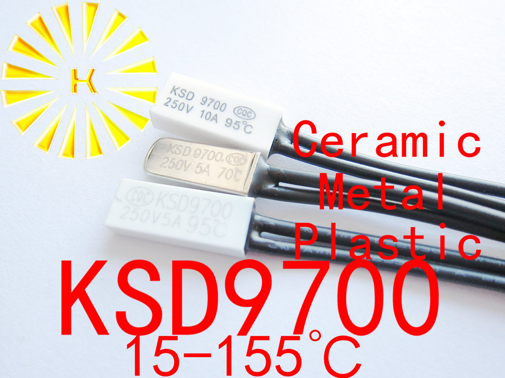 KSD9700 Metal Plastic Ceramic 15-155 Degree Temperature Control Switch Sensor 9700 Thermostat Thermal Protector X 100PCS
