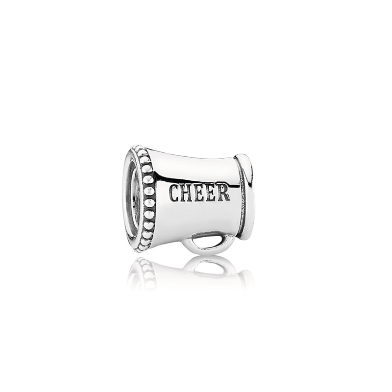 ROCKART Pure 925 Sterling Silver Cheer Leader Charm Fits European Bangles & Bracelets Fashion Jewelry Wholesale Gift