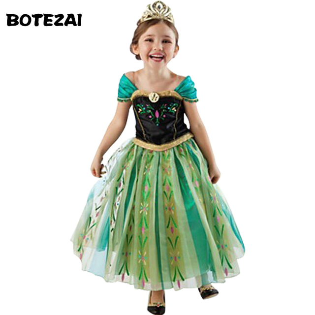 Hot 2017 Summer Girl Fashion Elsa Anna Dress Children Clothing Girls Princess Elsa Anna Party Dresses Baby Kids Clothes Vestidos