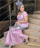 High-end-sexy frauen kleid 2016 mode-stil französisch spitze stoff lila afrikanische tüll stoff für kleider AMY05P-C