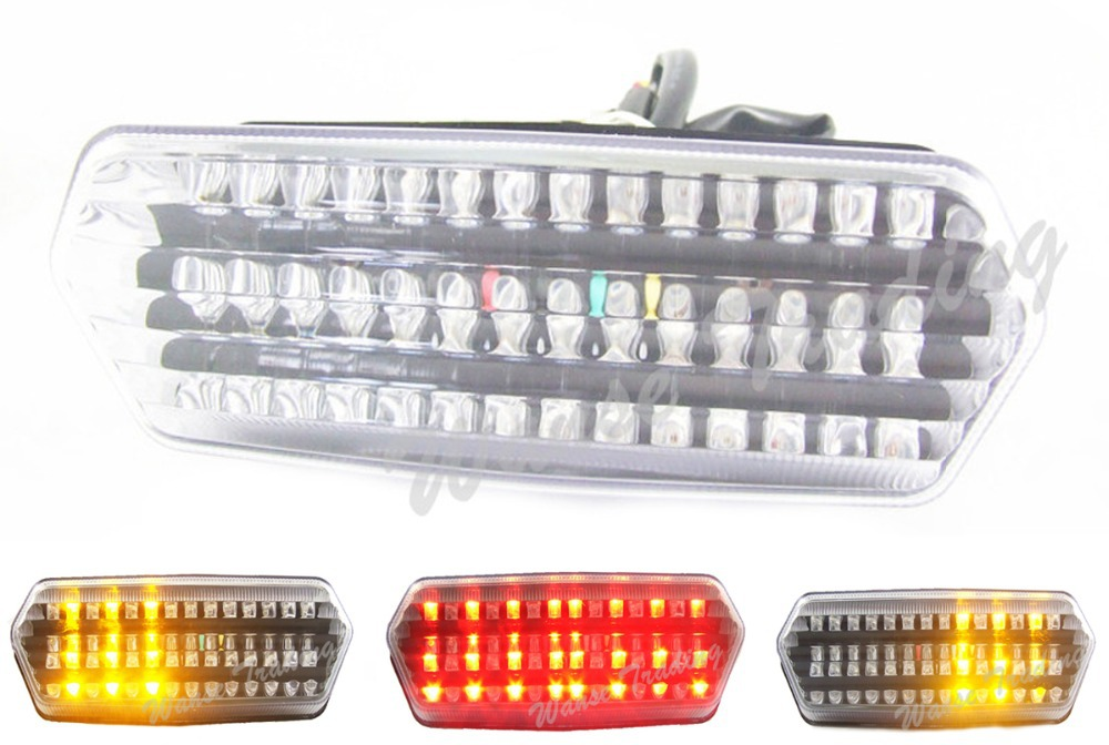 Motorcycle Parts Rear Taillight Tail Brake Turn Signals Integrated Led Light Lamp Clear For 2014-2015 HONDA Grom MSX 125 MSX125 aftermarket free shipping motorcycle parts led tail brake light turn signals for honda 2000 2001 2002 2006 rc51 rvt1000r smoke
