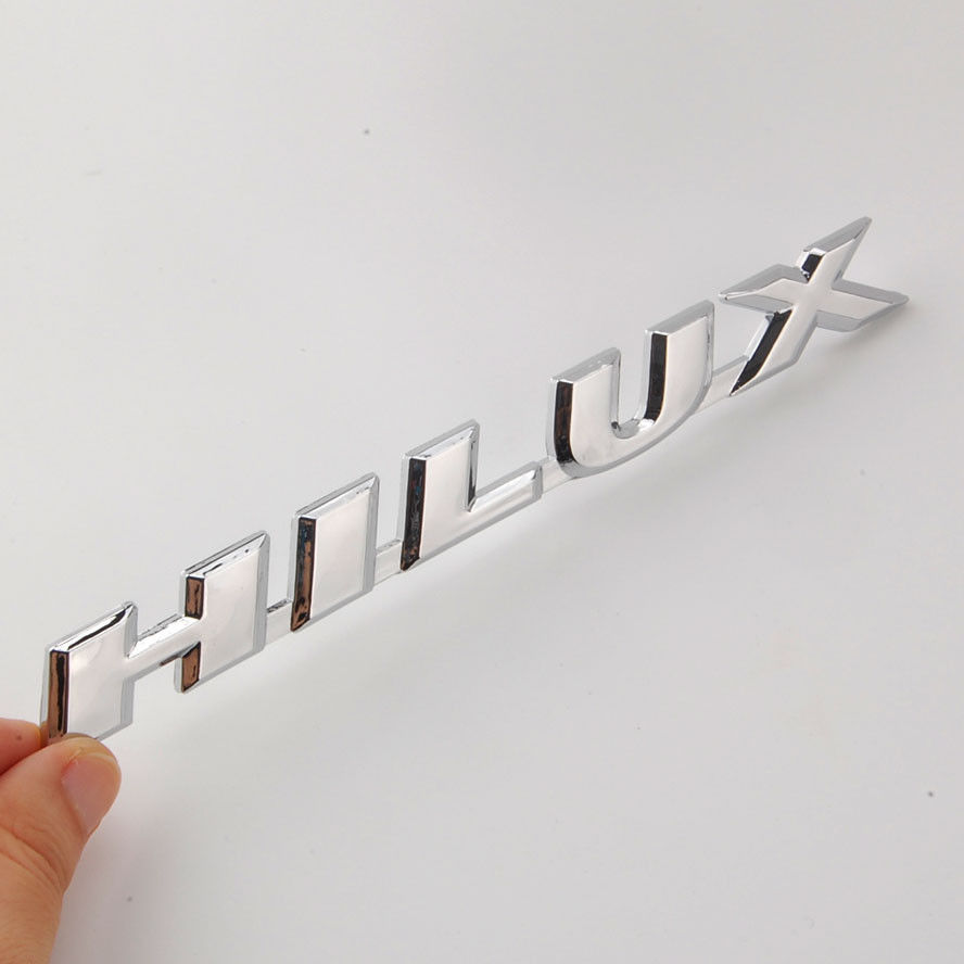 3D ABS Chrome Hilux Car Styling Rear Side Badge Emblem Decors Sticker Fit For Toyota HILUX REVO M70 M80 Car Decal Accessories car styling abs chrome body side moldings side door decoration for hyundai ix35