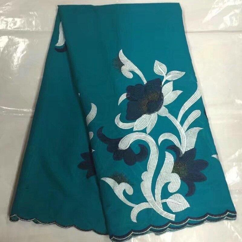 Ev ve Bahçe'ten Kumaş'de B8S0 Sıcak satış Işlemeli beyaz ve naby mavi çiçekler Afrika Dantel Elbise, ücretsiz kargo 100% Pamuk Dantel Kumaş'da  Grup 1