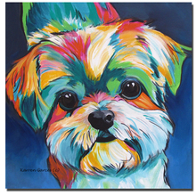Wall Pictures For Living Room Cuadros Cute Little Dog New Art Canvas Painting Picture Animal Paintings No Frame