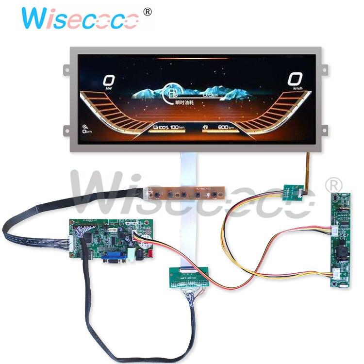 12.3 pouces résolution 1920*720 HDMI affichage HSD123IPW1 A00 avec 40 broches LVDS HDMI carte de contrôle pilote