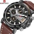 Топ люксовый бренд NAVIFORCE мужские спортивные часы мужские кожаные армейские военные водонепроницаемые часы Мужские кварцевые наручные часы...