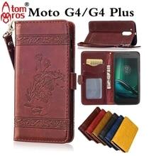 Высокое качество Ретро кожаный бумажник флип чехол для Motorola Moto G4/G4 плюс с держателя карты Чехол
