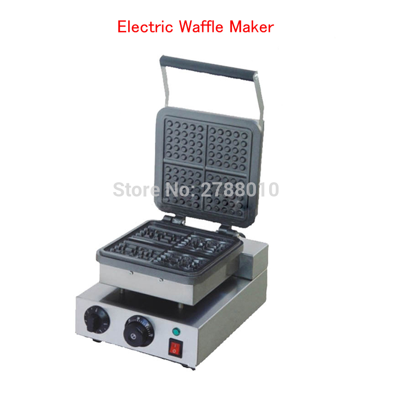 220V Electric Waffle Maker Non Stick Cooking Waffle Machine Square Waffle Furnace Electric Muffin Machine FY 218