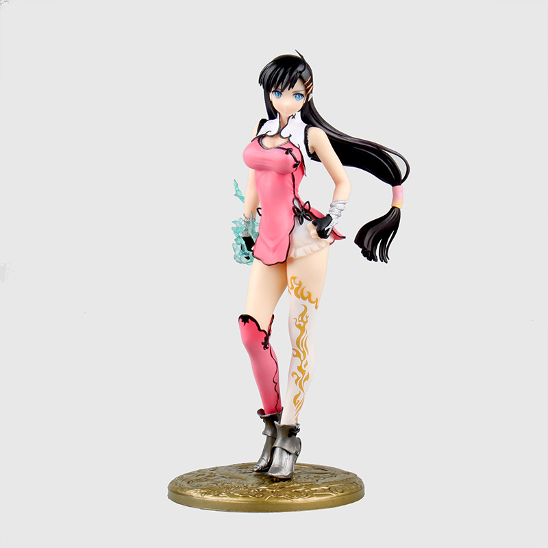 ФОТО Birthday Gift BLADE ARCUS From Shining Action Figure Collection 24cm Wang Bailong Blue Color 2p Pink Model Decorations