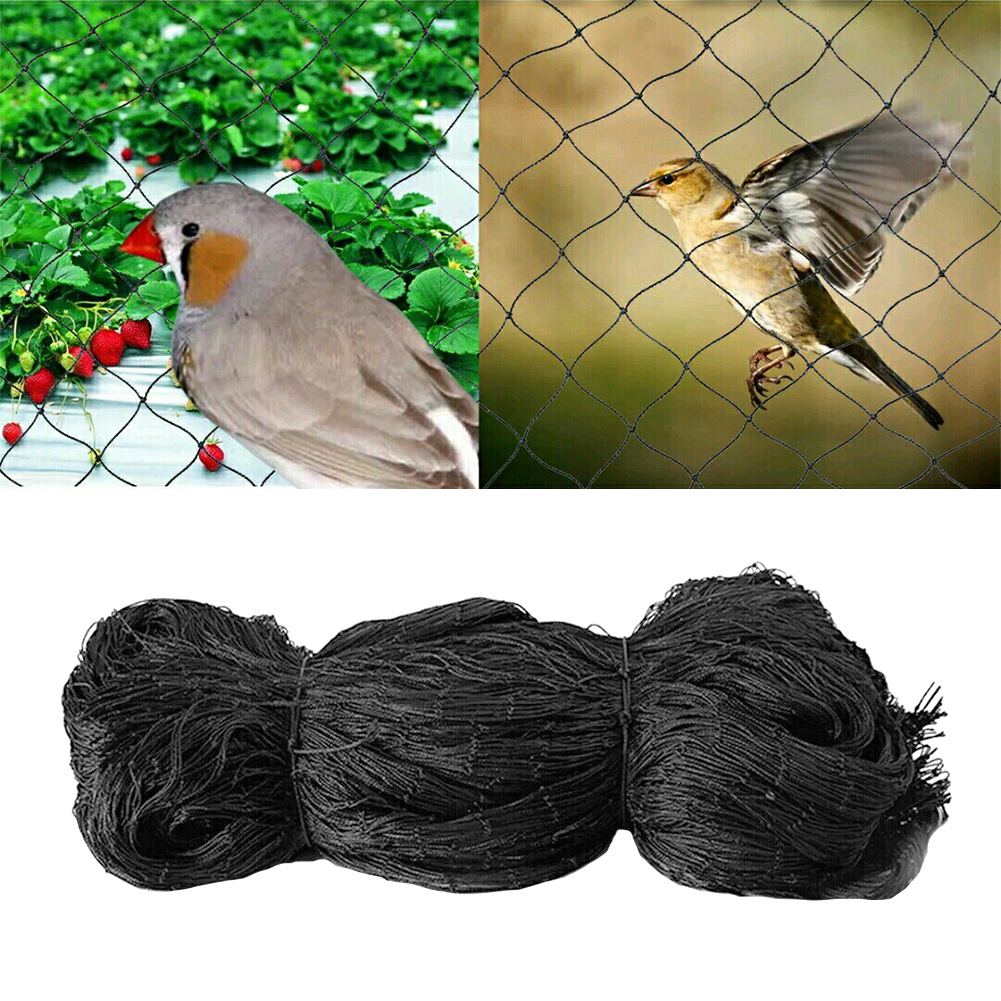 10m 15m 25m 30m Black Bird-Preventing Anti Bird Netting Net Mesh For Fruit Crop Plant Tree Square Mesh