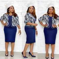 Afrikanische Kleidung Elegante Bodycon Kleid Frauen Büro Dame 2019 Gedruckt Patchwork Halbe Hülse Hohe Taille Verband Bleistift Kleid Robe