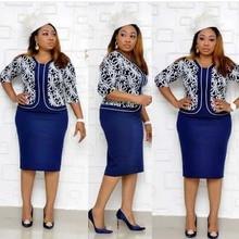 Roupas africanas elegante bodycon vestido feminino senhora do escritório 2019 impresso retalhos meia manga cintura alta bandagem lápis vestido robe