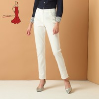 Deviz Queen Brand Trousers Office Lady Pants Casual Formal Harem White Pencil Pants Women Elegant Trousers