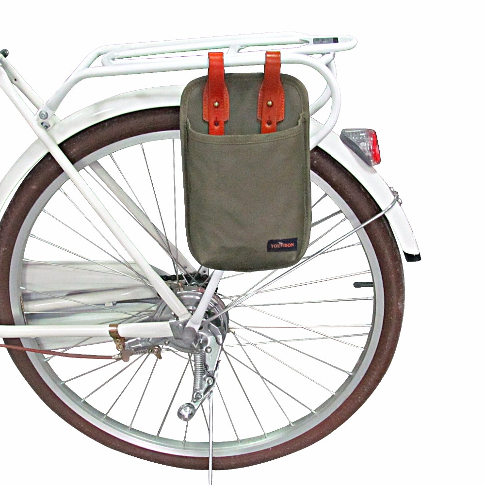 Tourbon Canvas Bicycle Pouch Bike Sedlo Bag Bike Accessories Waterproof U-lock Storage Case