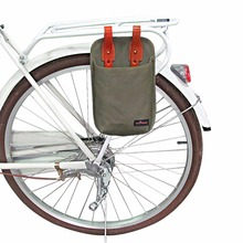 Tourbon Canvas & Leather Bicycle U-lock Tote Bike Cycling Lock Holster Bag Waterproof Pouch