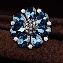 Ms brooch brand design popular choice Crystal