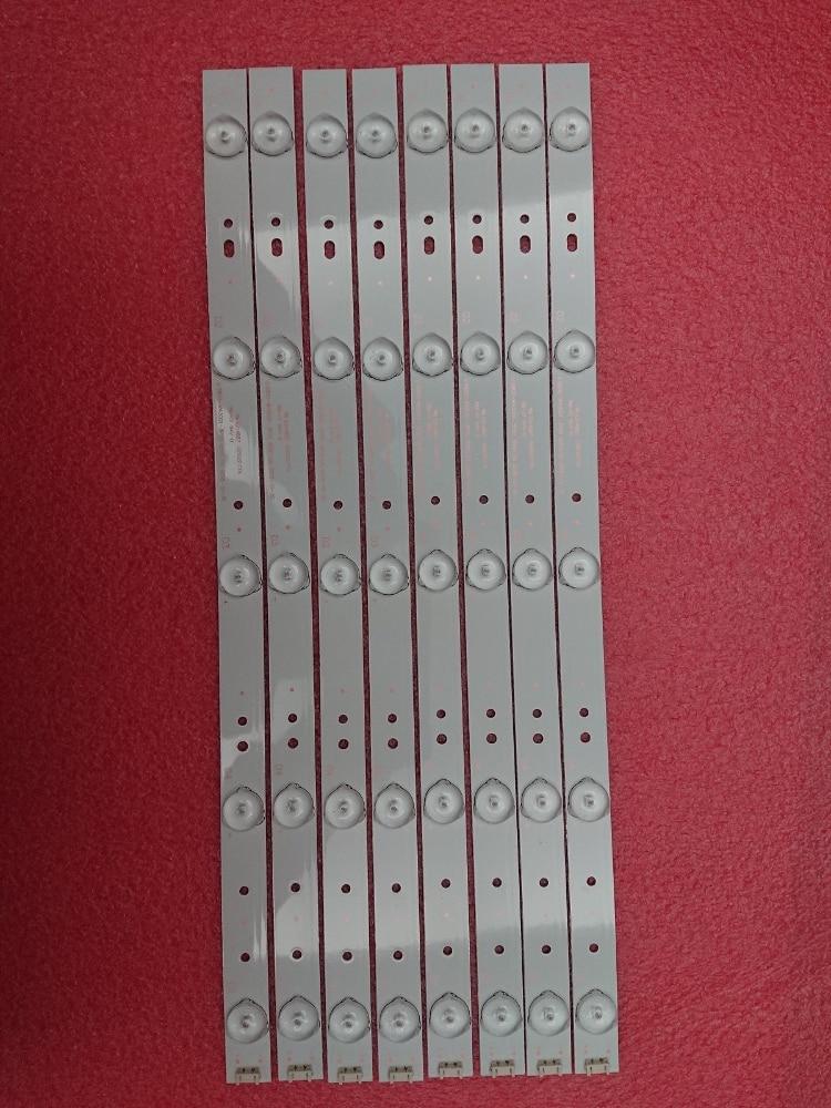 New Kit 8 PCS 5LED 405mm LED Strip For Polaroid TQL43F4PR001 43E6000 5800-W43001-3P00 E465853 02K03177A RDL430WY RDL430FY