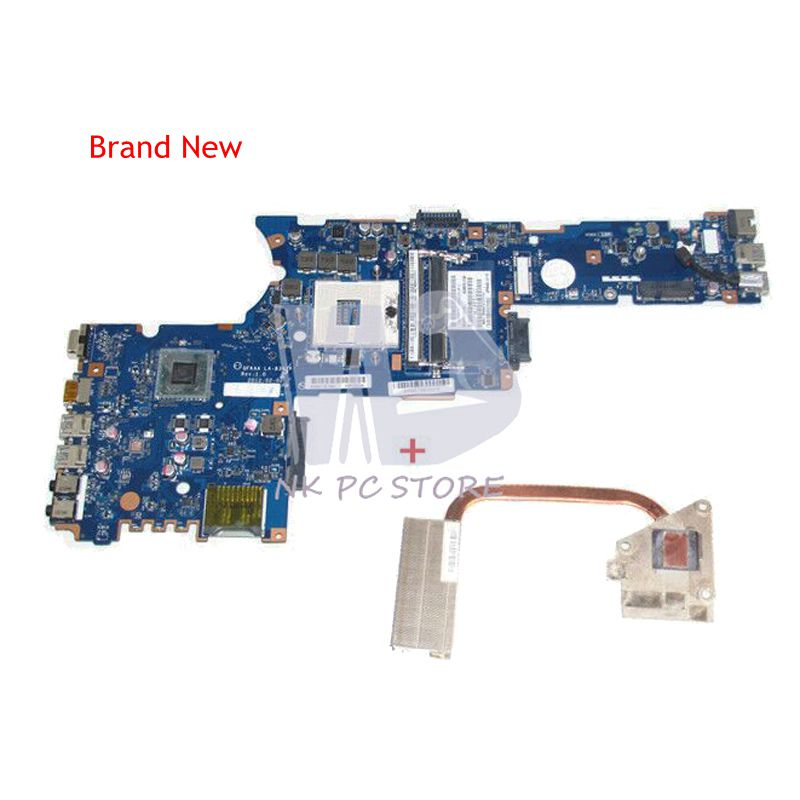 NOKOTION New LA-8392P For Toshiba P850 Motherboard + Heatsink=K000135190 LA-8391P For Toshiba P850 P855 Motherboard with GT630M new k000135160 main board for toshiba satellite p850 p855 laptop motherboard qfkaa la 8392p ddr3 hd4000 100% tested