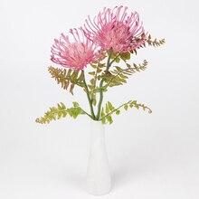 42cm 2 Heads Diy Artificial Plastic Pin Cushion Flower Simulation Fake Chrysanthemum Home Decoration M18
