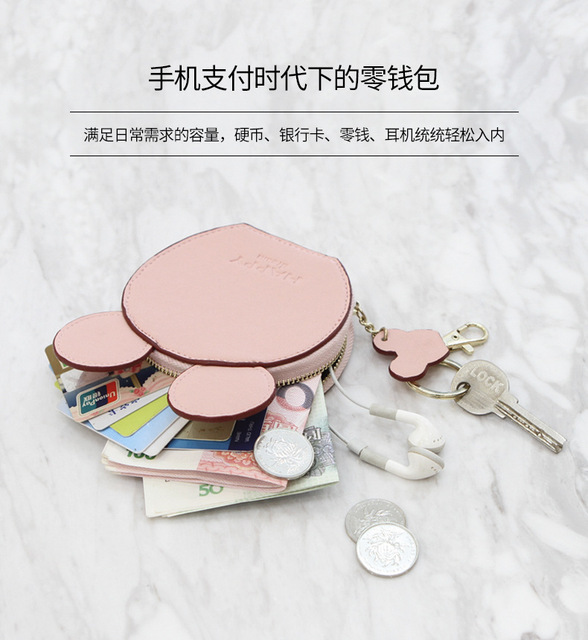 5b94fc23f555 Small Wallet Korean Mini Cute Student Zipper Bag Soft Card Bag Coin Bag