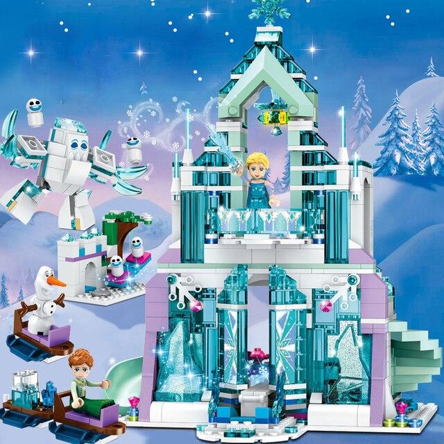 Meisje Speelgoed Vrienden Elsa Anna Ijs Kasteel Paleis Onderzeese Cinderella Kasteel Model Set Legoness Bouwstenen Bakstenen Kid Speelgoed Gift