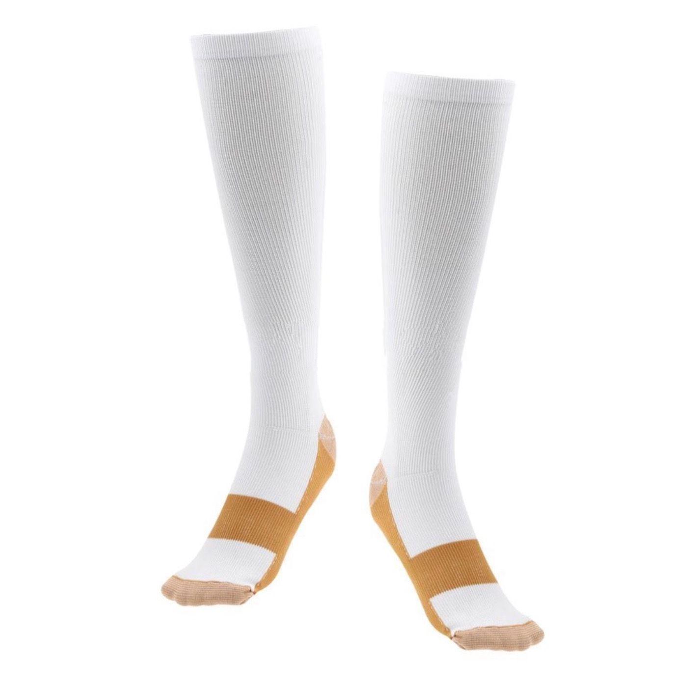 New Hot Sale Copper Infused Compression Socks Graduated Men Women Unisex Crew Socks S-XXL