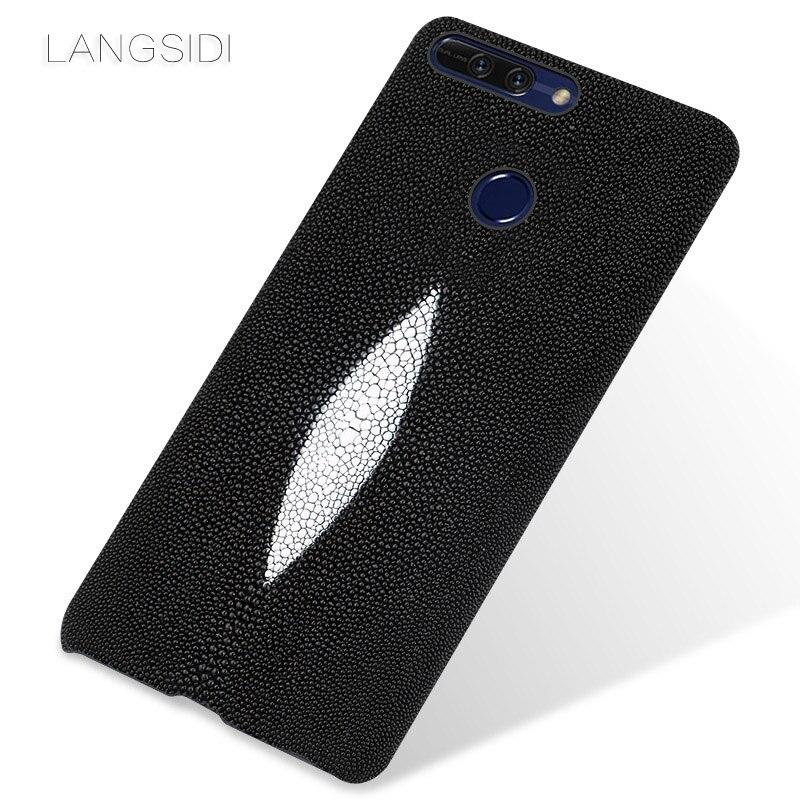 Wangcangli marque étui de téléphone portable perle poisson demi-paquet de étui de téléphone portable pour Huawei Honor V9 coque de téléphone traitement personnalisé