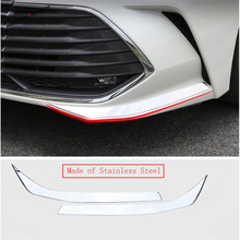 Yimaautotrims Front Fog Lights Lamp Eyebrow Eyelid Protector Corner Strip Cover Trim Chromium Styling Fit For Toyota Avalon 2019