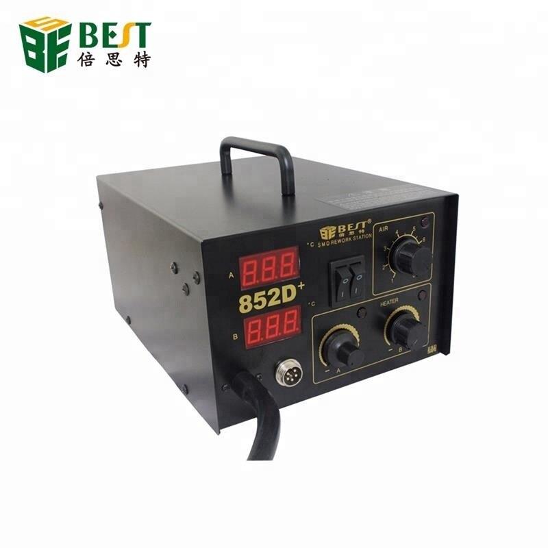 Station de reprise de soudure automatique BGA avec pistolet à Air chaud fer à souder BST-852D +